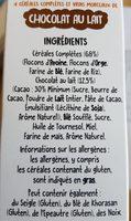 Funny Crisp Chocolat au Lait - Ingrédients - fr