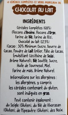 Funny Crisp Chocolat au Lait - Ingrédients