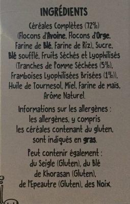 Funny Crisp Pomme Framboise - Ingrédients - fr