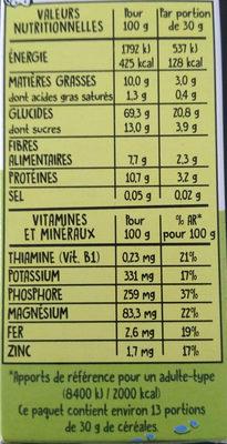 Funny Crisp Pomme Framboise - Informations nutritionnelles - fr