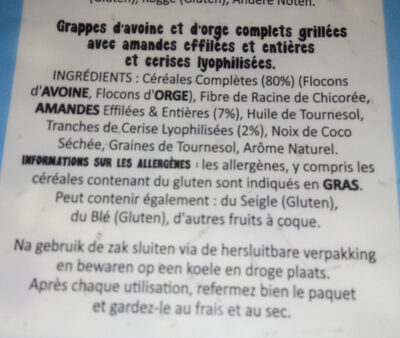 Granola Cherry & Almond - Informations nutritionnelles - fr