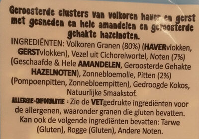 Granola Amande et Noisette - Ingrediënten - nl