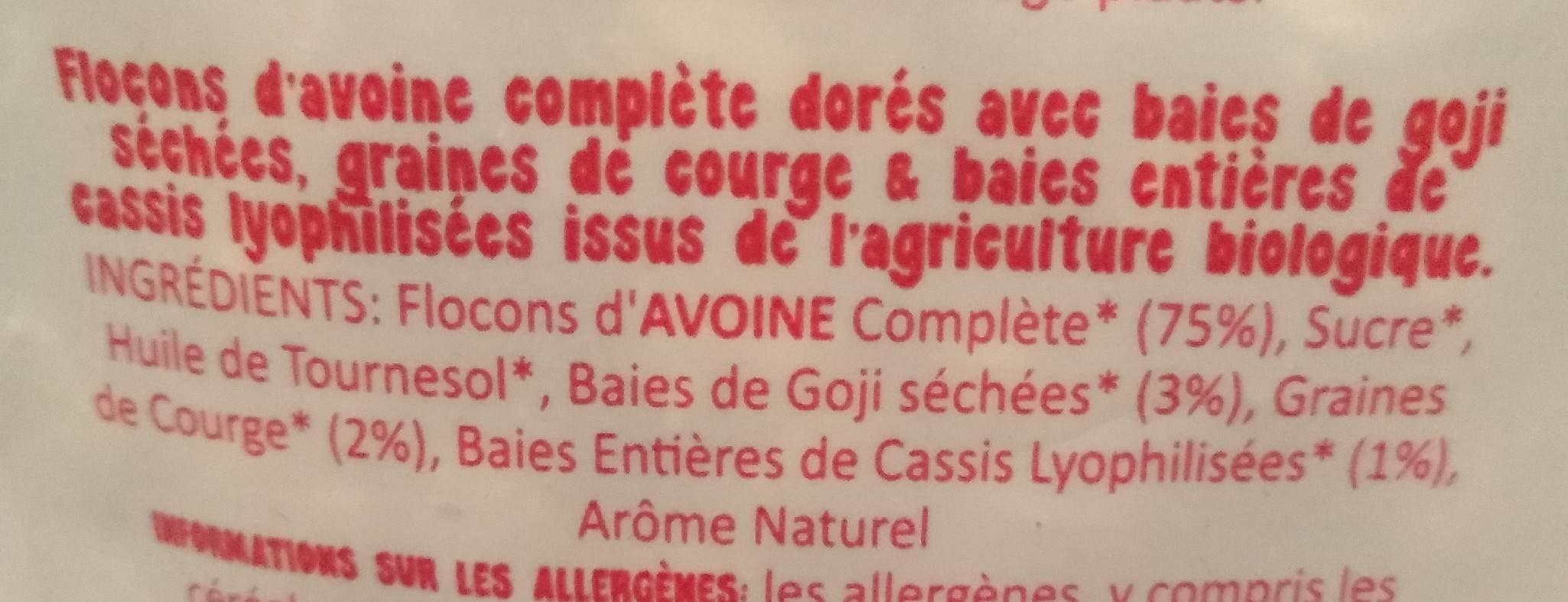 Granola - Ingrediënten - fr