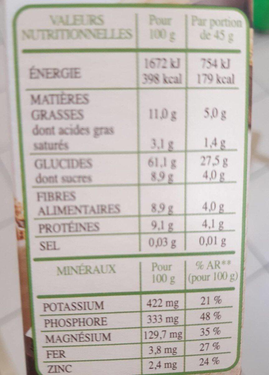Muesli bio chocolat noir - Nutrition facts - fr