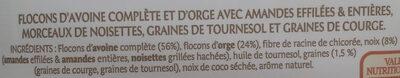 Granola amandes noisettes et graines - Ingrédients - fr
