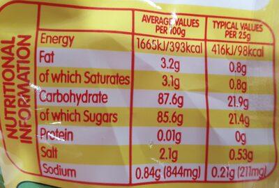 Fizzers - Nutrition facts - en