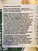 Spaghetti & meatballs - Ingredienti - cs