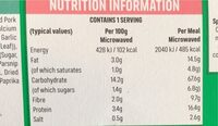Spaghetti & meatballs - Valori nutrizionali - cs