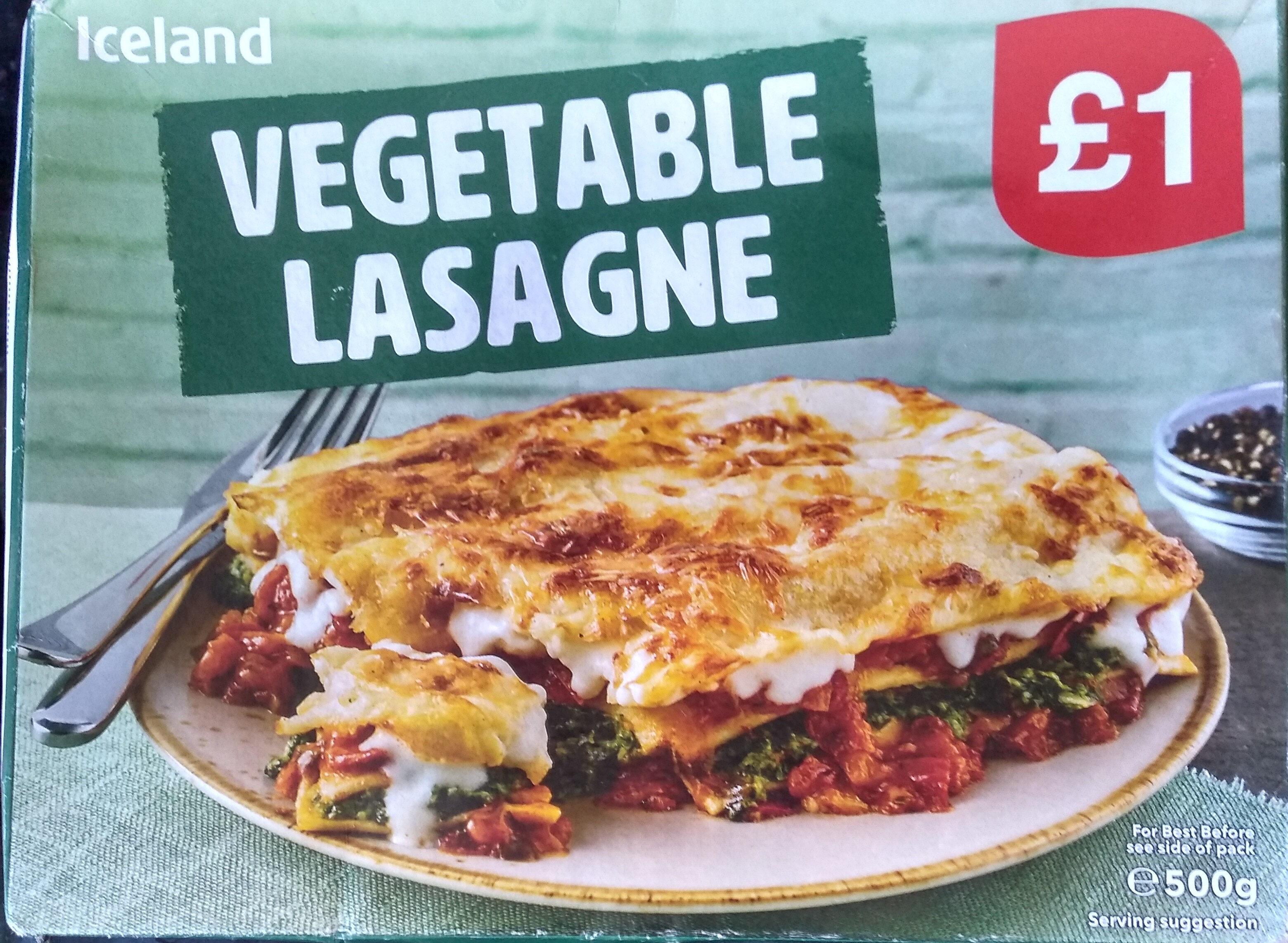 vegetable lasagne - Produit - en