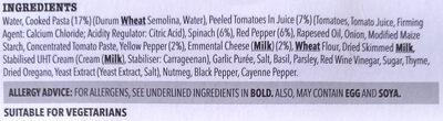 Vegetable lasagne - Ingredients - en