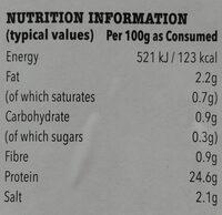 Lean Cooked Wiltshire Ham - Nutrition facts - en