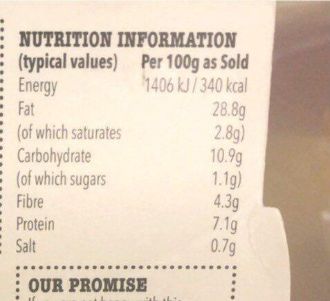 Houmous - Nutrition facts - en