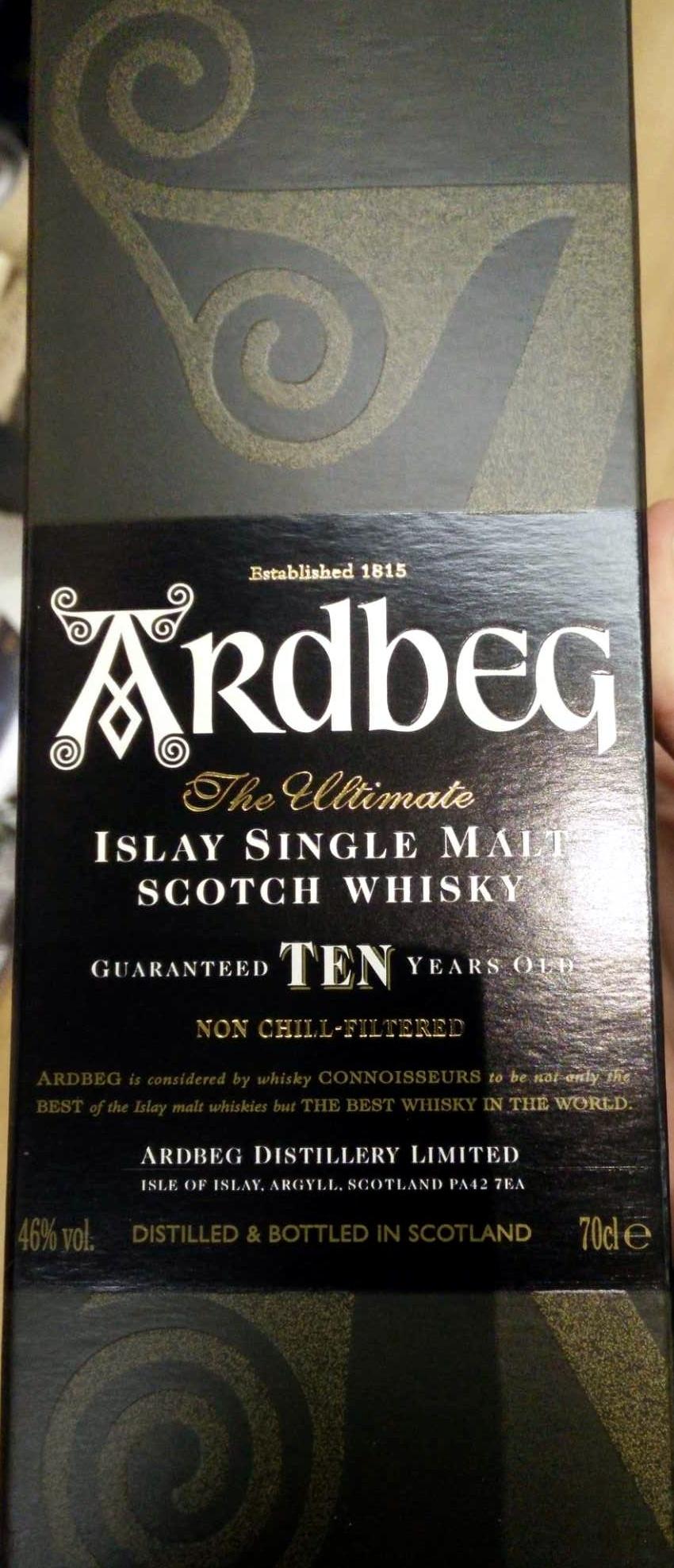 10 year old Islay single malt scotch whiskey - Product - en