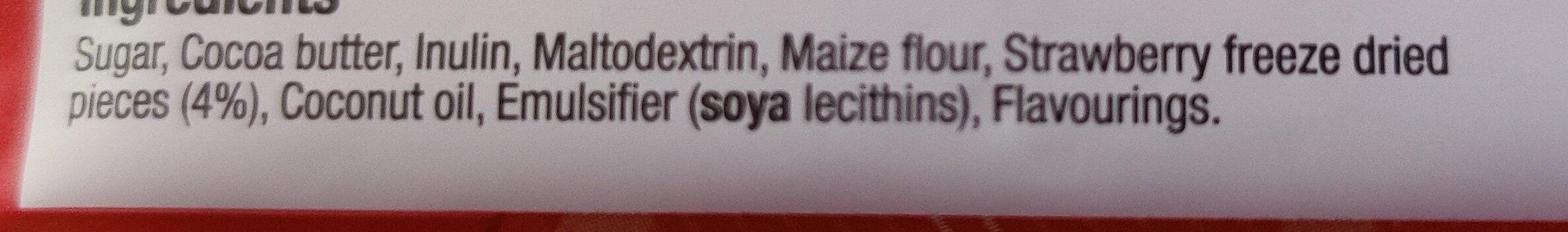 Strawberries and Cream White Chocolate Bar - Ingredients - en