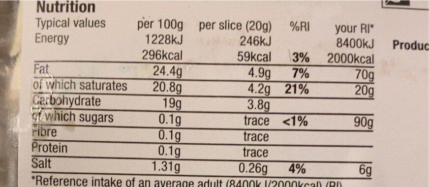 Mozzarella Slices - Valori nutrizionali - en