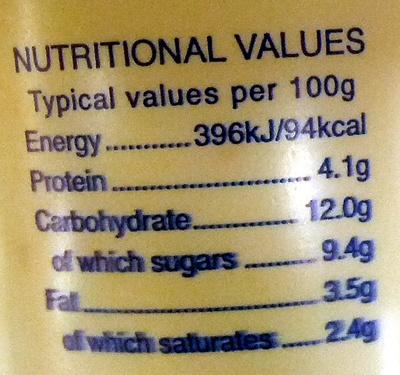 Longley farm mandarin yoghurt - Nutrition facts - en