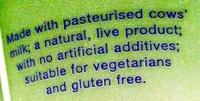Natural Yogurt - Ingredients