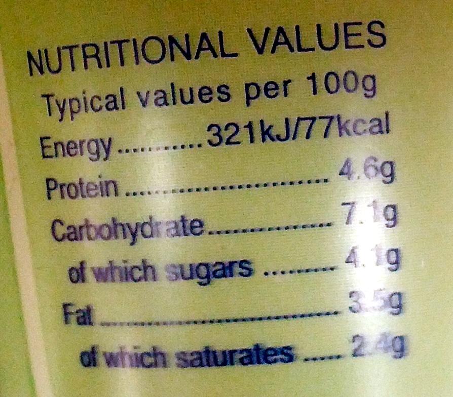 Natural Yogurt - Nutrition facts