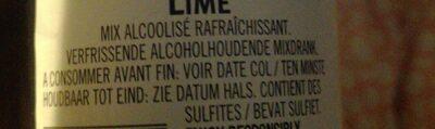 Breezer Lime - Ingrediënten - fr