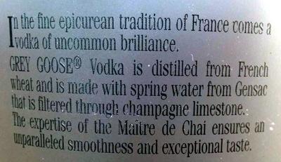Vodka - Ingrediënten
