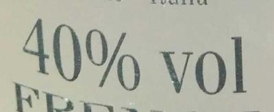 Vodka - Voedigswaarden