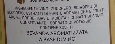 Martini Bianco - Ingrédients - it