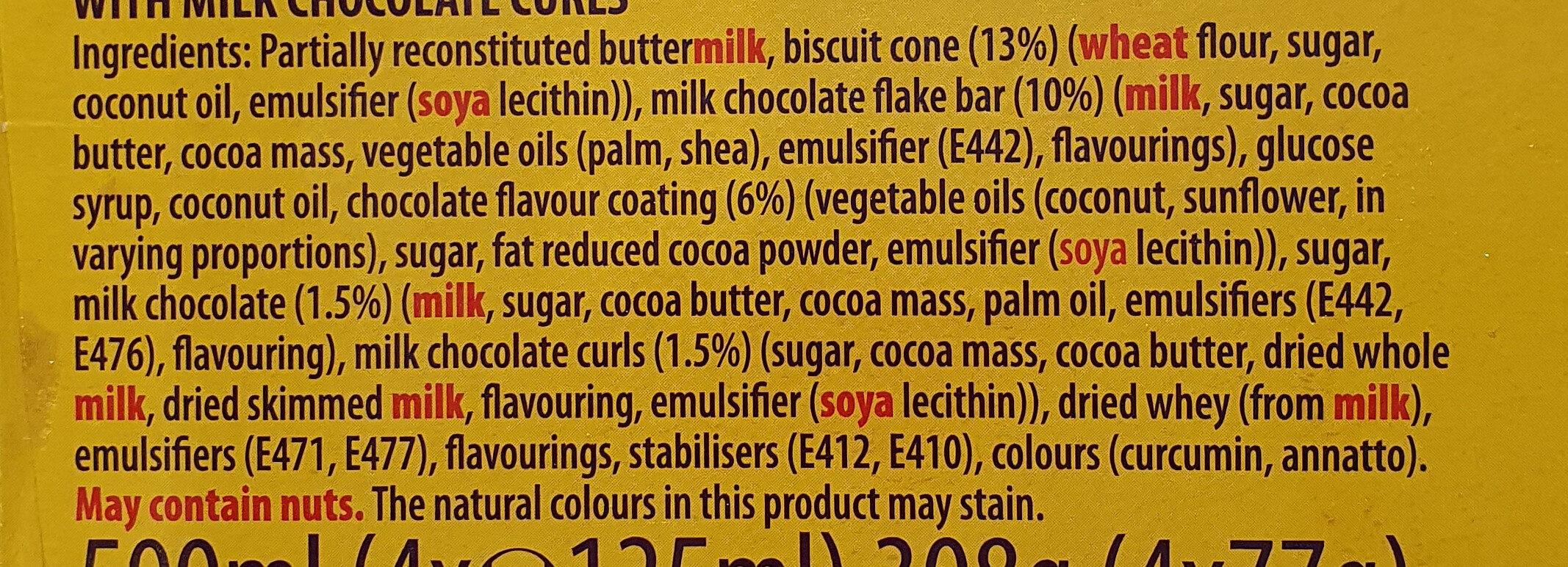 Flake 99 - Ingredients - en