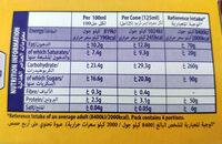 Flake 99 - Informations nutritionnelles - en
