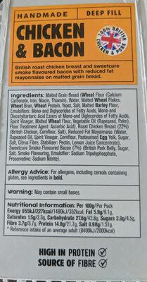 Chicken & Bacon Deep Fill - Ingrédients - en