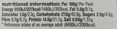 Chicken & Bacon Deep Fill - Informations nutritionnelles - en
