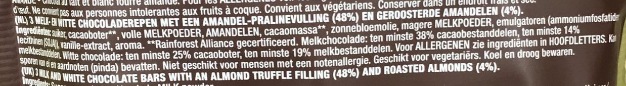 Chocolate Almond bars - Ingrediënten