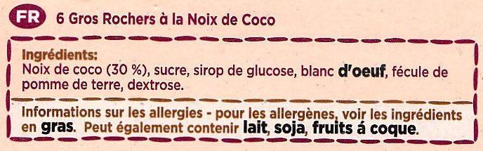 6 Large Choc Macaroons - Ingrédients - fr