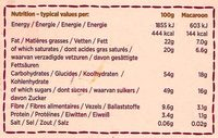 6 Large Choc Macaroons - Nutrition facts