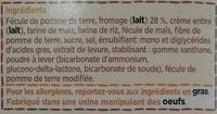 Original Cheese Crackers - Ingredients - fr