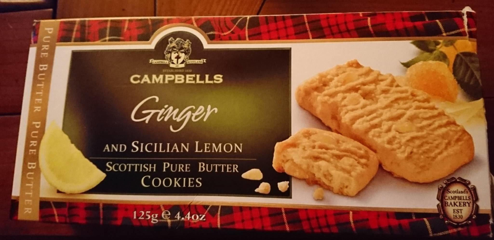 Ginger and Sicilian Lemon Scottish Pure Butter Cookies - Produit