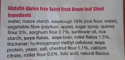 Fresh Brown Loaf - Ingredients