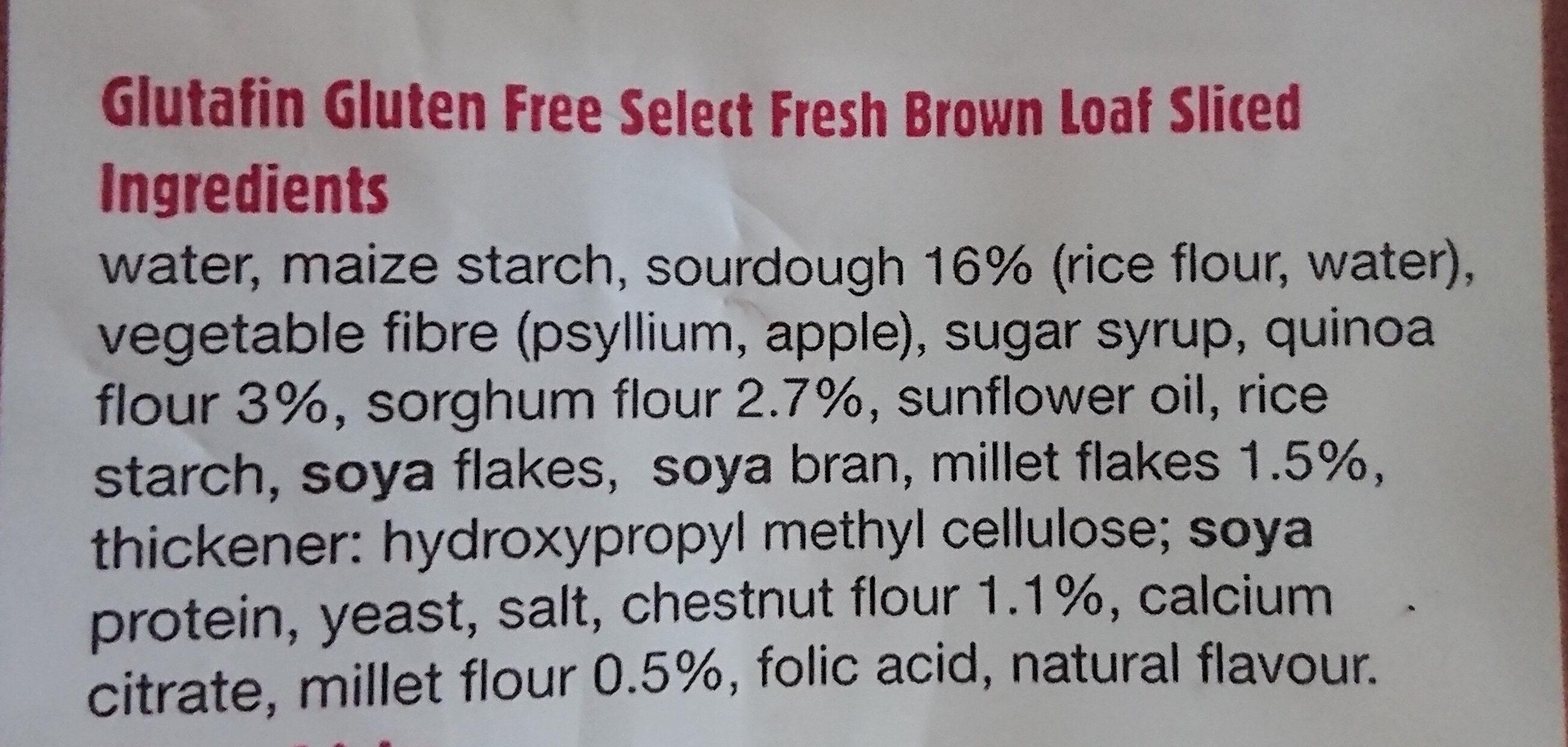 Fresh Brown Loaf - Ingredients - en