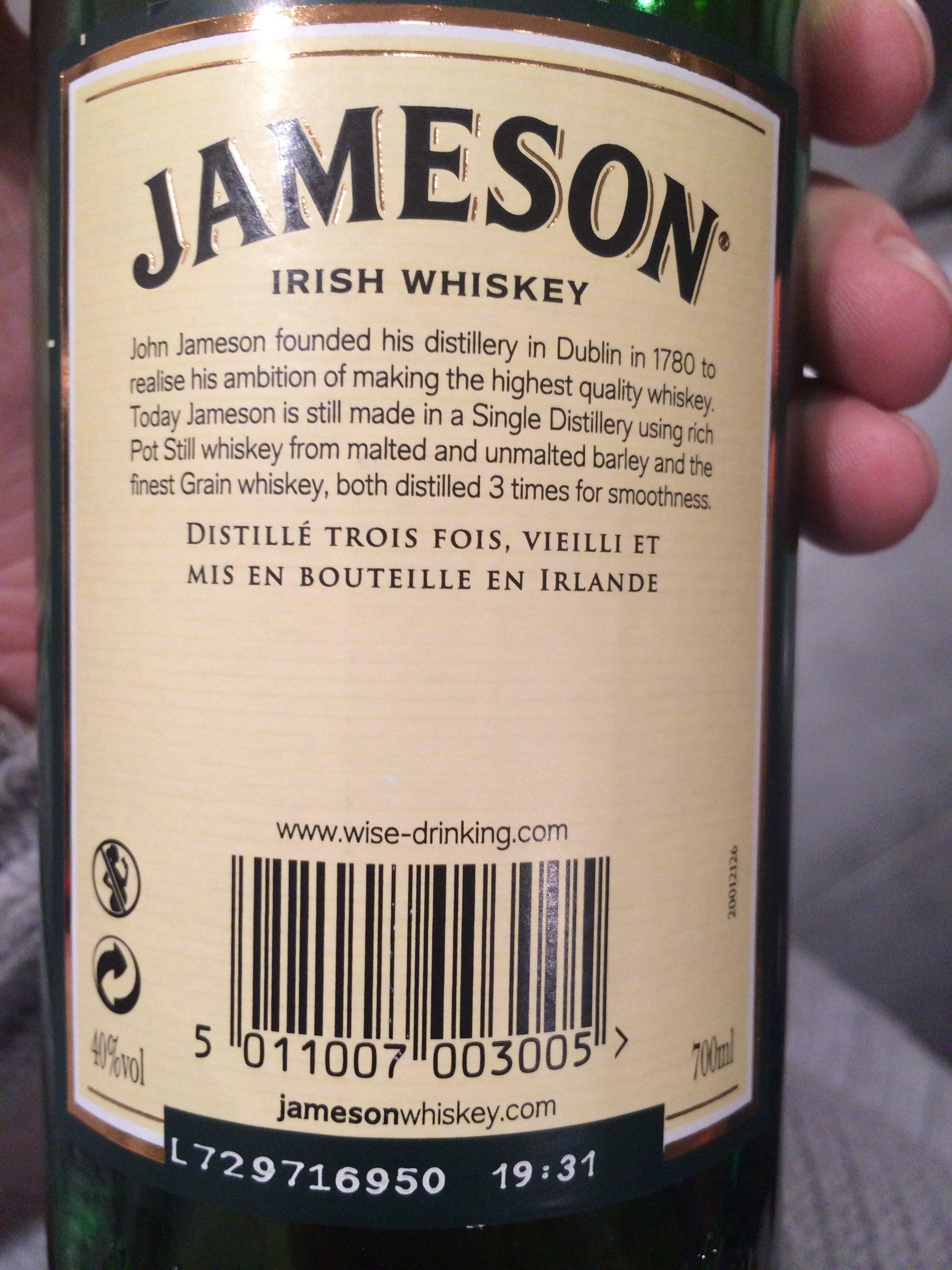 Irish whiskey - Ingrediënten