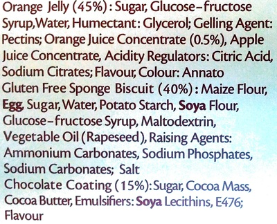 Kelkin Gluten Free Jaffa Cakes Ingredients