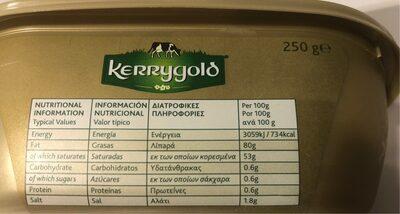 Softer irish butter - Διατροφικά στοιχεία - en