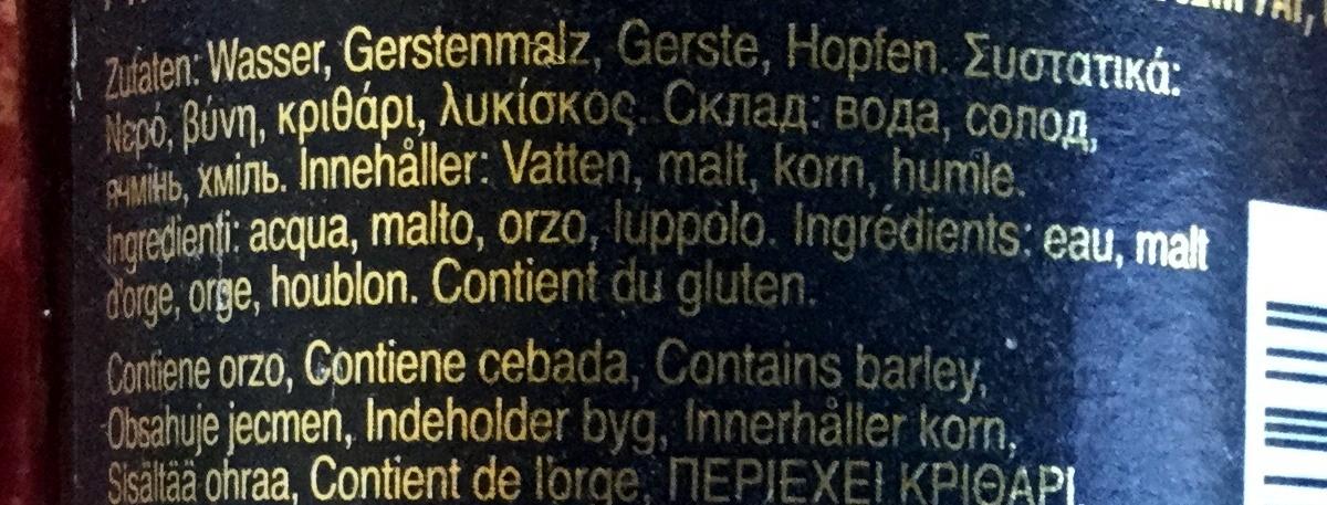 Premium Lager - Ingredients - fr