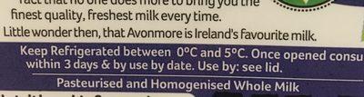 Avonmore Milk 2 Litre - Ingrédients