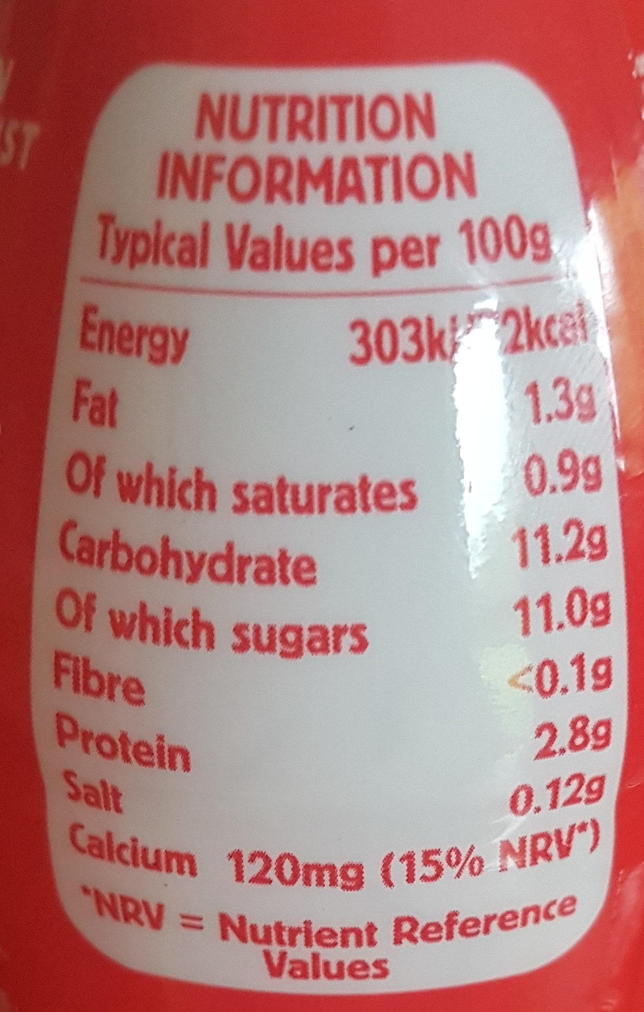 Yop - Nutrition facts - en