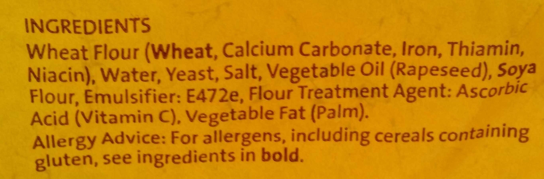 Half Pan Premium White Bread - Ingredients - en