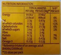 Chia Wholegrain - Nutrition facts - en