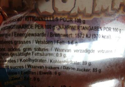 Magic Pop Mammouth - Informations nutritionnelles - es