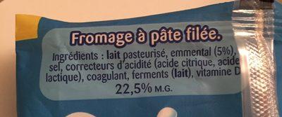 Fromage à pâte filée - Ingredients - fr