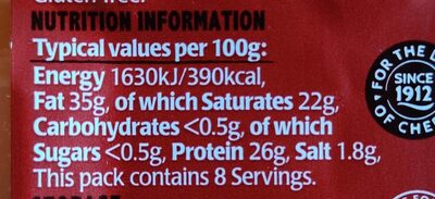 Mature Red Cheddar - Nutrition facts - en