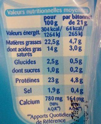 Ficello nature - Voedingswaarden