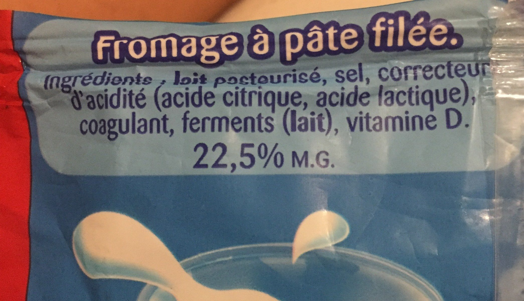 Fromage nature - Ingredients - fr